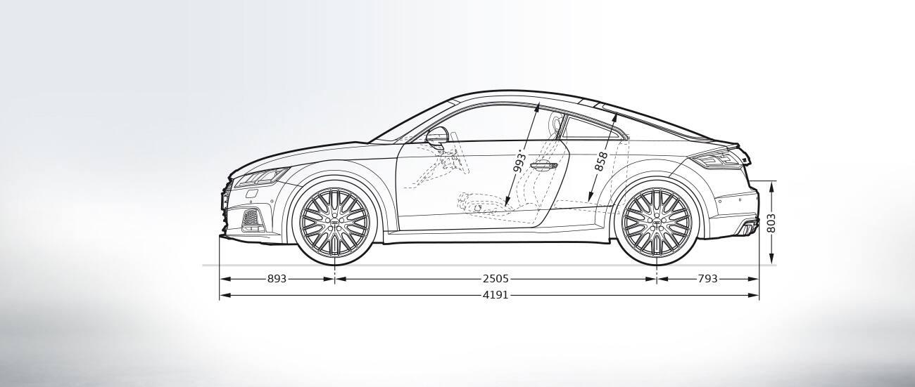 Audi Tts Coupe Dimensions Audi Tts Coupe 2019 Audi Tt 2019